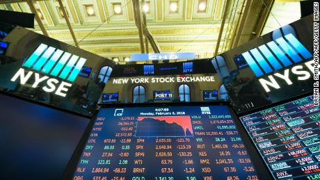 The closing numbers are displayed after the closing bell of the Dow Industrial Average at the New York Stock Exchange on February 5, 2018 in New York.  Wall Street stocks endured a brutal session Monday, with the Dow seeing one of its steepest ever one-day point drops, as the heady bullishness of early 2018 gave way to extreme volatility. / AFP PHOTO / Bryan R. SmithBRYAN R. SMITH/AFP/Getty Images