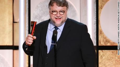 BEVERLY HILLS, CA - FEBRUARY 05:  Guillermo del Toro accepts the award for Best Director at AARP's 17th Annual Movies For Grownups Awards at the Beverly Wilshire Four Seasons Hotel on February 5, 2018 in Beverly Hills, California.  (Photo by Rich Fury/Getty Images)