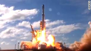 See SpaceX's Falcon Heavy rocket launch