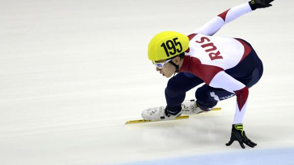 Viktor Ahn of Russia competes during the men