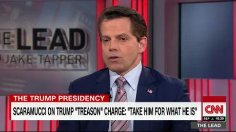 "Lead scaramucci 1 trump democrats ""treason"" live_00055407"