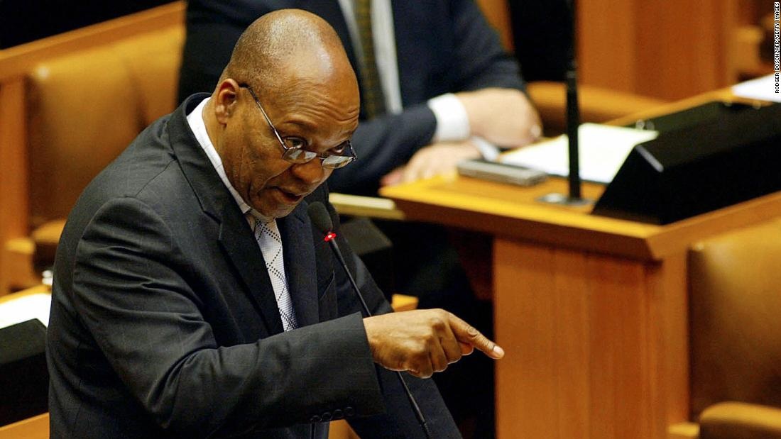 In 2005, a South African court found businessman Schabir Shaik guilty of bribing Zuma between 1995 and 2002. Zuma, seen here replying to a question in Parliament, was fired by President Mbaki over his alleged involvement in the bribery scandal.