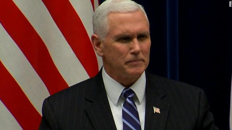 Pence: N. Korea won't hide behind Olympic flag