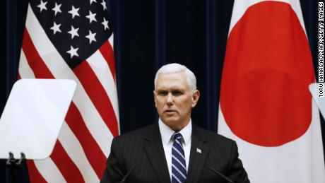 Pence, Moon play down differences over North Korea on eve of Games