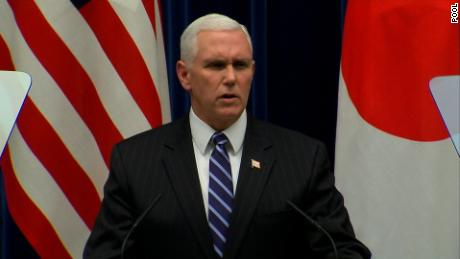 NS Slug: PENCE: TOUGHEST NKOREA SANCTIONS STILL TO COME    Synopsis: Pence: Toughest North Korea sanctions are still to come    Keywords: VICE PRESIDENT MIKE PENCE JAPAN OLYMPICS NORTH KOREA