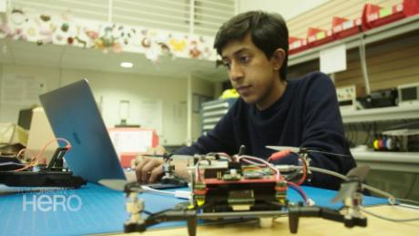 Student designs drones inspired by fruit flies.
