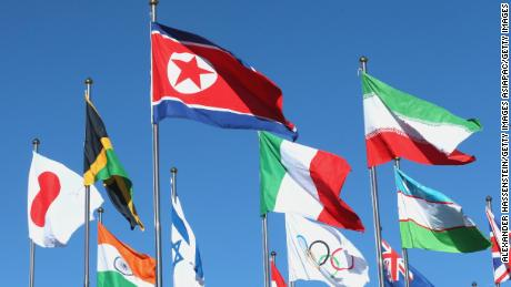World's flags take the spotlight in Pyeongchang