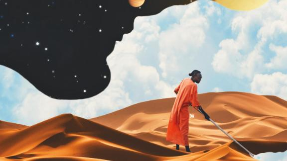 """""""I got into Afrofuturism from a desire to create art that showcases African culture through surrealism, seeing as there was not enough work in that field,"""" David Alabo told CNN."""