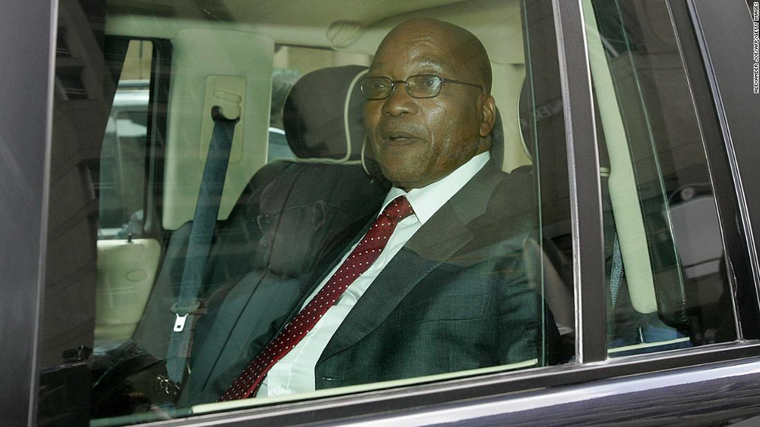 Zuma leaves the Johannesburg High Court in February 2006. He had been charged with raping a young family friend; he claimed the sex was consensual. Zuma was acquitted a few months later.