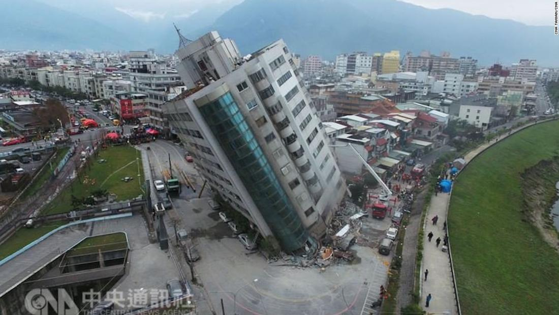 Search for missing in Taiwan after earthquake topples buildings