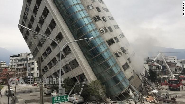 Yun Men Tsui Ti in Hualien, Taiwan on Wednesday after the earthquake hit.