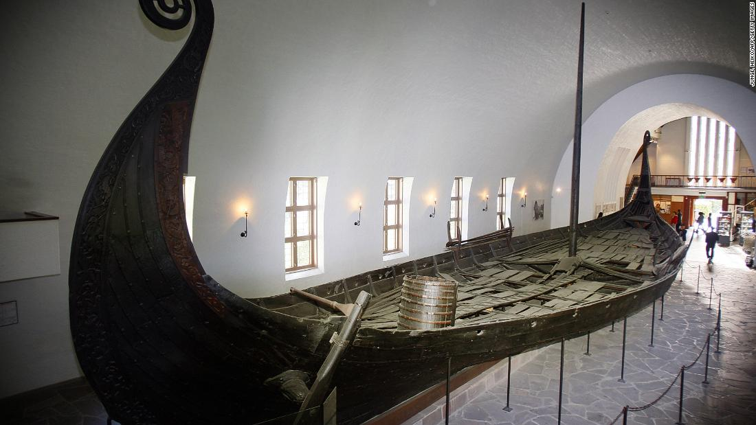 "The Viking Age is known for its <a href=""https://en.natmus.dk/historical-knowledge/denmark/prehistoric-period-until-1050-ad/the-viking-age/"" target=""_blank"">sea fleets</a>. They would set sail to foreign lands to conquer new lands, or find wares for new trade. This is the Oseberg ship on display at the Viking Ship Museum in Oslo."