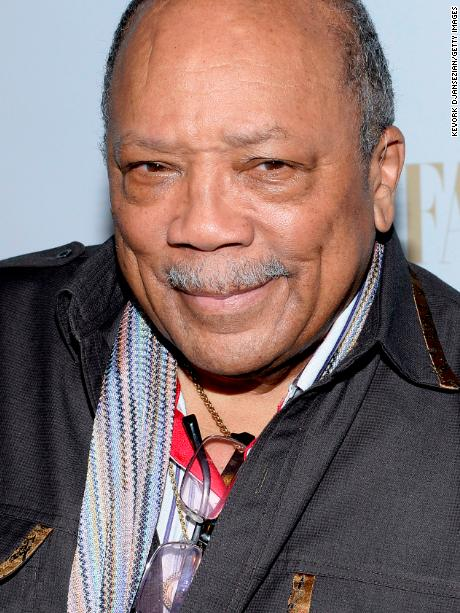 Producer Quincy Jones attends attends the Annie Leibovitz Book Launch presented by Vanity Fair, Leon Max and Benedikt Taschen during Vanity Fair Campaign Hollywood at Chateau Marmont on February 26, 2014 in Los Angeles, California.(Photo by Kevork Djansezian/Getty Images)