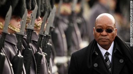 South African President Jacob Zuma in London during a state visit on March 3, 2010.