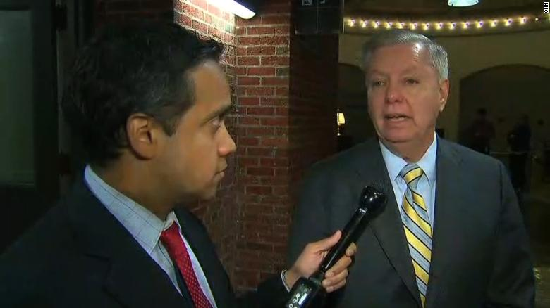 Graham: Trump parade is cheesy, shows weakness