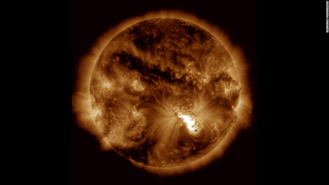 Researchers studied the major solar flare that occurred October 24, 2014, to develop a better model for understanding and predicting solar eruptions.