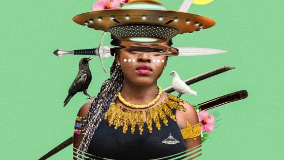 """The following visuals are created by Kaylan F. Michael under the moniker of Lost In The Island, who is a Canadian-based artist and graphic designer. """"Self-expression got me interested in Afrofuturism."""""""