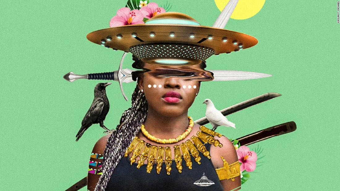 "The following visuals are created by <a href=""https://www.instagram.com/lost_intheisland/"" target=""_blank"">Kaylan F. Michael</a> under the moniker of Lost In The Island, who is a Canadian-based artist and graphic designer. ""Self-expression got me interested in Afrofuturism."""