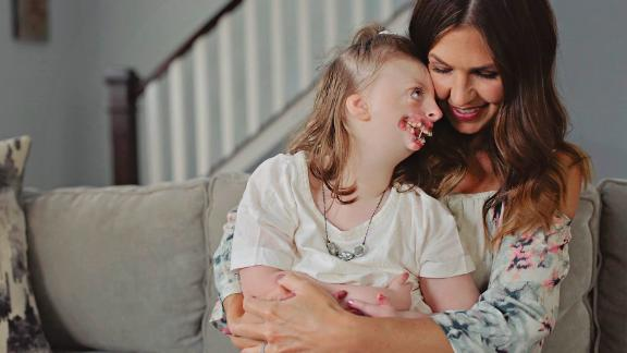 Natalie Weaver with her daughter Sophia, 9.