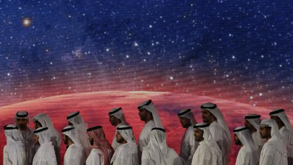 Officials, engineers and scientists take part in a ceremony in Dubai to unveil the UAE's Mars mission in 2015. The country's latest space project, the Space Settlement Challenge, seeks ideas that explore the possibilities around space settlement and habitation.