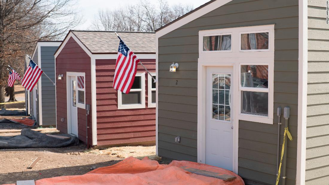 On January 29 Veterans Community Project Finished The First 13 Tiny Homes Of 50 It