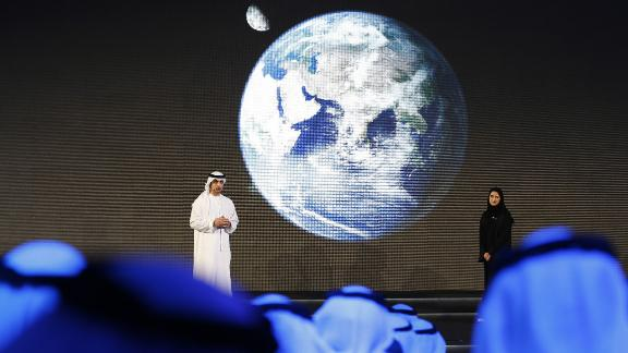 Sarah Al Amiri (right), deputy project manager of the Mars Mission, says the UAE hopes to inspire the youth of the Middle East.