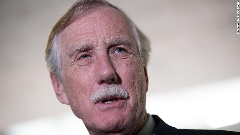 Angus King says he's undecided on Pompeo