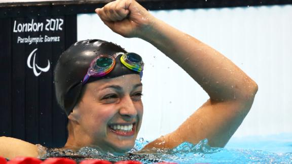 Arlen won a gold medal in the 100-meter freestyle at the London 2012 Paralympic Games.