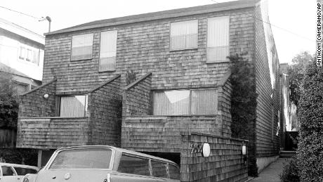 This is the apartment building in Berkeley, Calif., where Patricia Campbell Hearst, granddaughter of the late publisher William Randolph Hearst lived in, and was abducted from Feb. 4, 1974. Police said shots were fired as Miss Hearst was spirited away in an auto. This photo taken February 5, 1974. (AP Photo/Anthony Camerano)