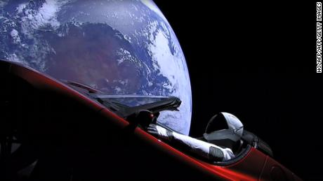 "This still image taken from a SpaceX livestream video shows ""Starman"" sitting in SpaceX CEO Elon Musk's cherry red Tesla roadster after the Falcon Heavy rocket delivered it into orbit around the Earth on February 2, 2018. Screams and cheers erupted at Cape Canaveral, Florida as the massive rocket fired its 27 engines and rumbled into the blue sky over the same NASA launchpad that served as a base for the US missions to Moon four decades ago. / AFP PHOTO / SPACEX / HO / RESTRICTED TO EDITORIAL USE - MANDATORY CREDIT ""AFP PHOTO / SPACEX"" - NO MARKETING NO ADVERTISING CAMPAIGNS - DISTRIBUTED AS A SERVICE TO CLIENTS  HO/AFP/Getty Images"