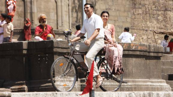 "Indian film actor Akshay Kumar plays Arunachalam Muruganantham in the film ""Pad Man"""