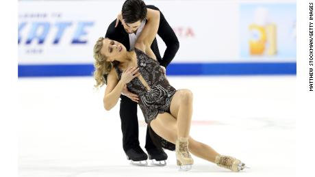 Hubbell and Donohue won four US bronze medals before striking gold with a passionate free dance.