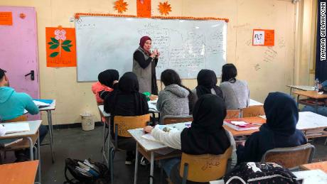 An Arabic literature class at Galilee Secondary School.