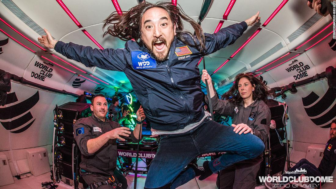 The world's first zero-gravity dance party