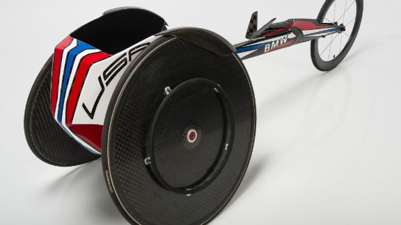 Collaborating with Paralympic athletes, BMW Designworks improved aerodynamics and ergonomics in its racing wheelchairs. Everything from the cockpit to the steering arm was customized using 3-D scans and body measurements. Tatyana McFadden and Chelsea McClammer won gold, silver and bronze medals in the 2016 Summer Paralympics using this design.