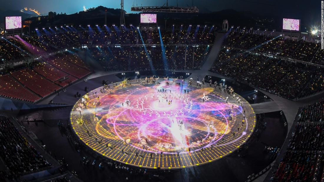 The ceremony was held at PyeongChang Olympic Stadium, a temporary structure with capacity for 35,000 spectators.