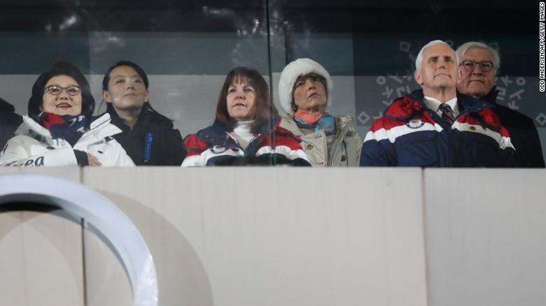 What message did Pence send to NK at Olympics?