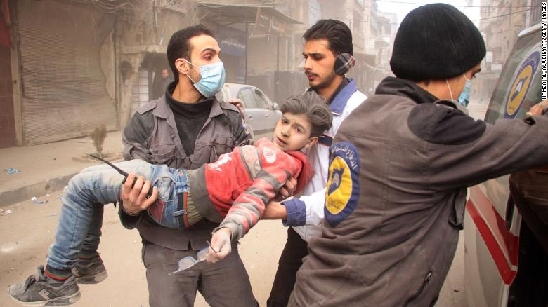 Harrowing scenes from Eastern Ghouta