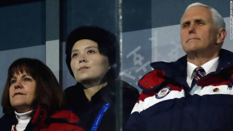 Pence, Kim Jong Un's sister ignore each other