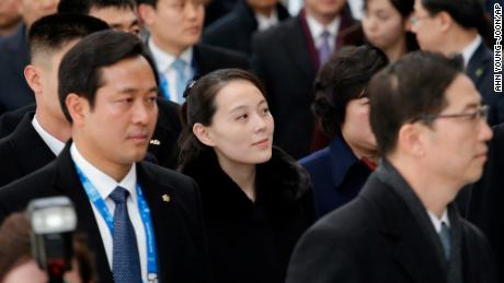 Kim Yo Jong, North Korean leader Kim Jong Un's sister, arrives at the Incheon International Airport in South Korea on Friday.