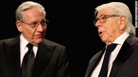 Journalists Bob Woodward (left) and Carl Bernstein.