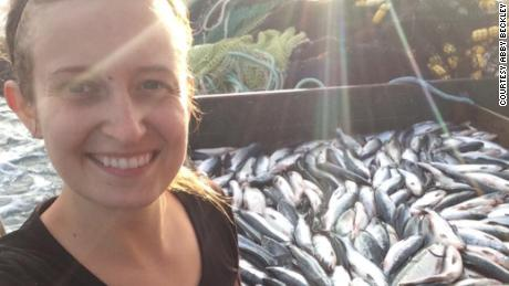 At age 26, Abby Beckley worked on a salmon boat in Alaska.