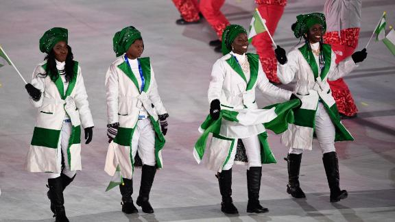 The nation also has a skeleton athlete, Simidele Adeagbo, who will be the first woman to represent Nigeria and Africa in that sport. Simidele was born in Nigeria but grew up in the USA and Canada.