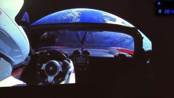 """NS Slug: SPACEX: VIEW FROM LAUNCH CONTROL (COOL!)  Synopsis: Elon Musk tweeted video Tuesday with the caption: """"View from SpaceX Launch Control. Apparently there is a car in orbit around Earth""""  Video Shows: Elon Musk tweeted this video on Tuesday.  Musk wrote: """"View from SpaceX Launch Control. Apparently there is a car in orbit around Earth""""    Keywords: SPACEX FALCON HEAVY ROCKET LAUNCH FLORIDA TESLA ELON MUSK"""
