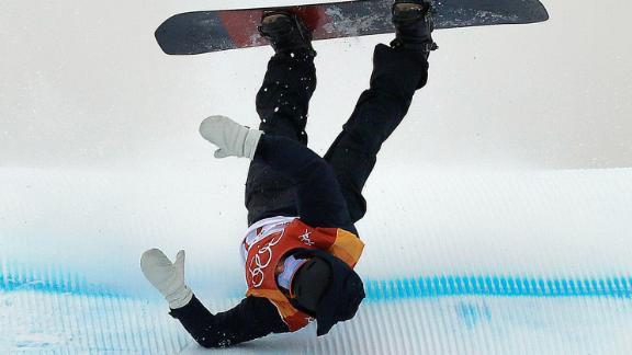 NiklasMattsson of Sweden crashes during the slopestyle qualification.