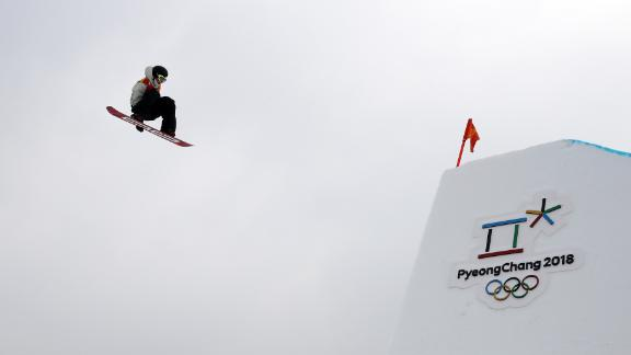 Mons Roisland of Norway competes in the slopestyle qualification.