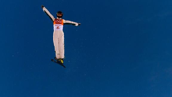 Danielle Scott of Australia practices during freestyle skiing aerials.