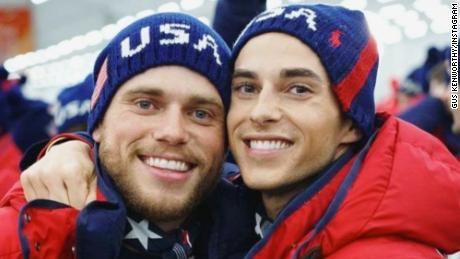 """The #OpeningCeremony is a wrap and the 2018 Winter Olympic Gaymes are officially under way! I feel incredibly honored to be here in Korea competing for the US and I'm so proud to be representing the LGBTQ community alongside this amazing guy! Eat your heart out, Pence. #TeamUSA #TeamUSGay"""