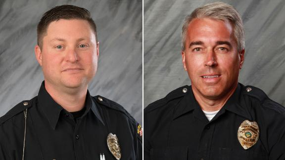 Officers Eric Joering, left, and Anthony Morelli
