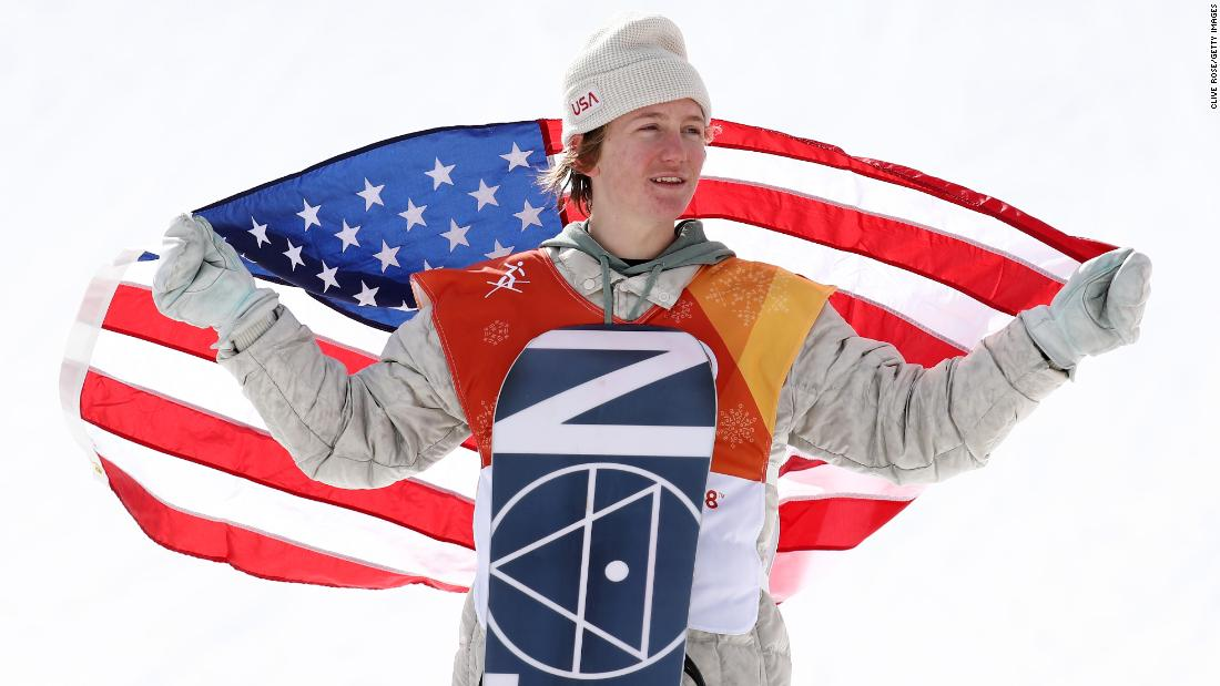 Redmond Gerard of the United States poses after winning gold in the snowboarding slopestyle. Max Parrot from Canada won the silver medal while fellow Canadian Mark McMorris took the bronze. The 17-year-old Gerard became the youngest American ever to medal in a snowboarding event in the Olympics and the first American to medal at the 2018 PyeongChang Games.